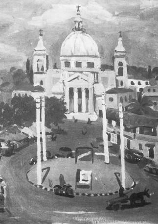 Piazzale Ponte Milvio, 1953