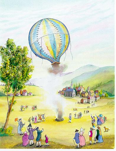 Annonay - the First Balloon Flight 1783, 1999