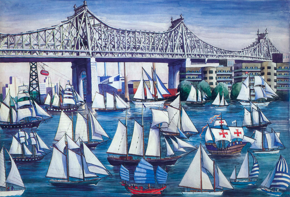 Regatta on the East River, 1977