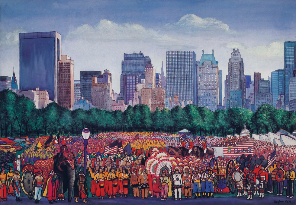 The Shriners in Central Park 1977