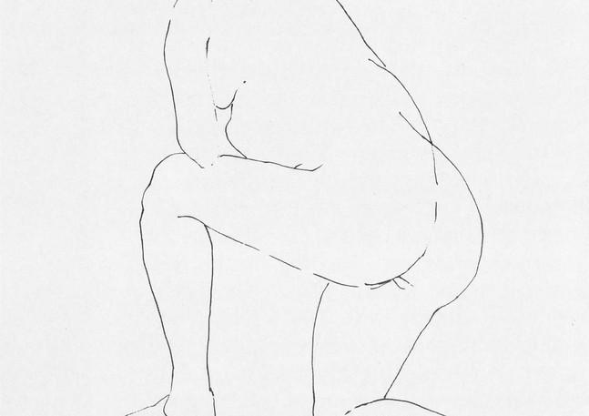 Kneeling Nude, 1954