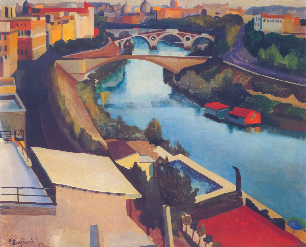 The Tiber in Summer, 1958