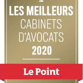 IMPALA AVOCATS élu meilleur cabinet d'avocats par Le Point.