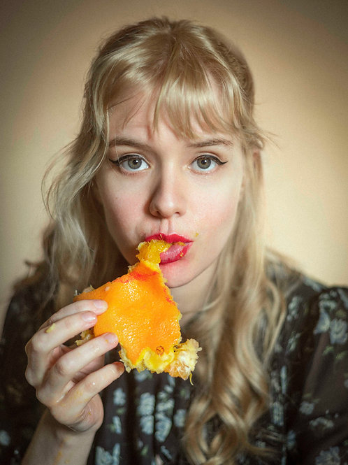 Eating an Orange #1, 10x14cm print
