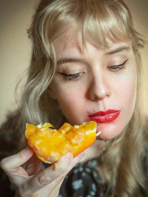 Eating an Orange #2, 10x14cm print