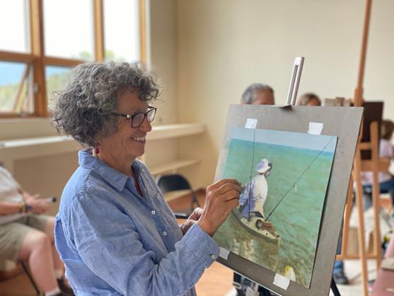 Lisa Weathers, workshop artist
