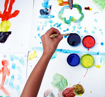 Paint like a child, re-connect with creativity