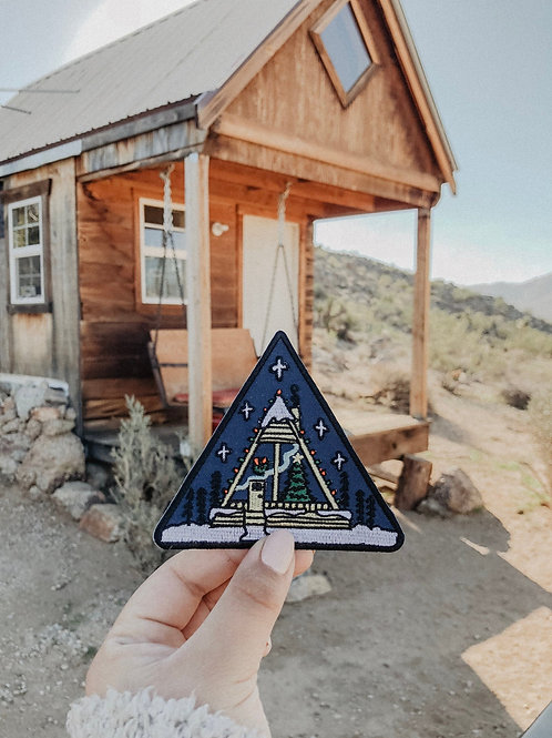 Christmas Cabin Patch