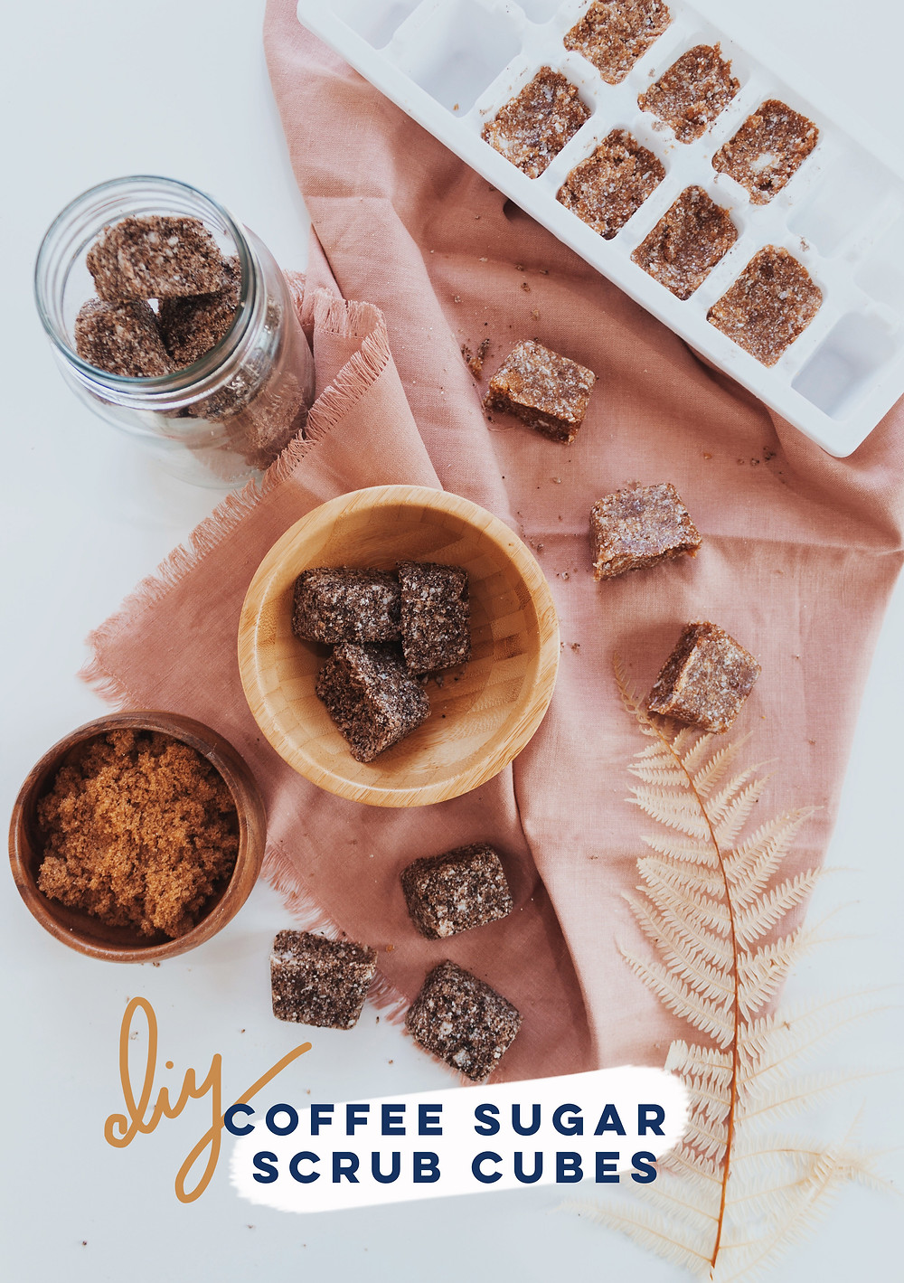 diy coffee sugar scrub cubes