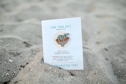 Find Your Grit Enamel Pin