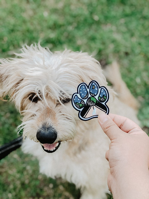 Explorer Pup Paw Print Patch