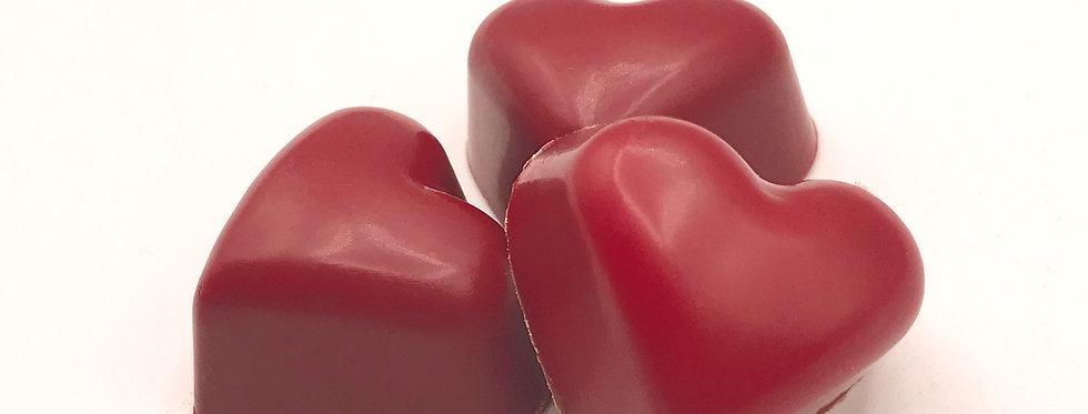 Heart praline chocolate