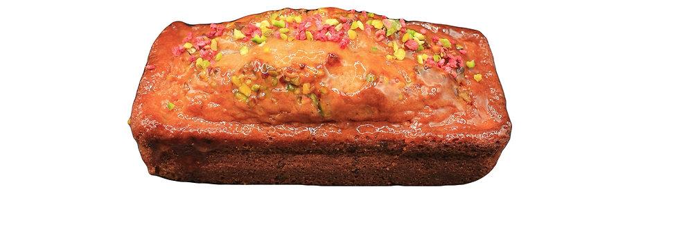 Pistachio and raspberry cake