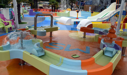 Espace de jeux aquatiques
