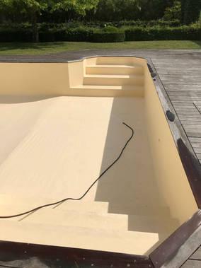 rénovation escalier piscine