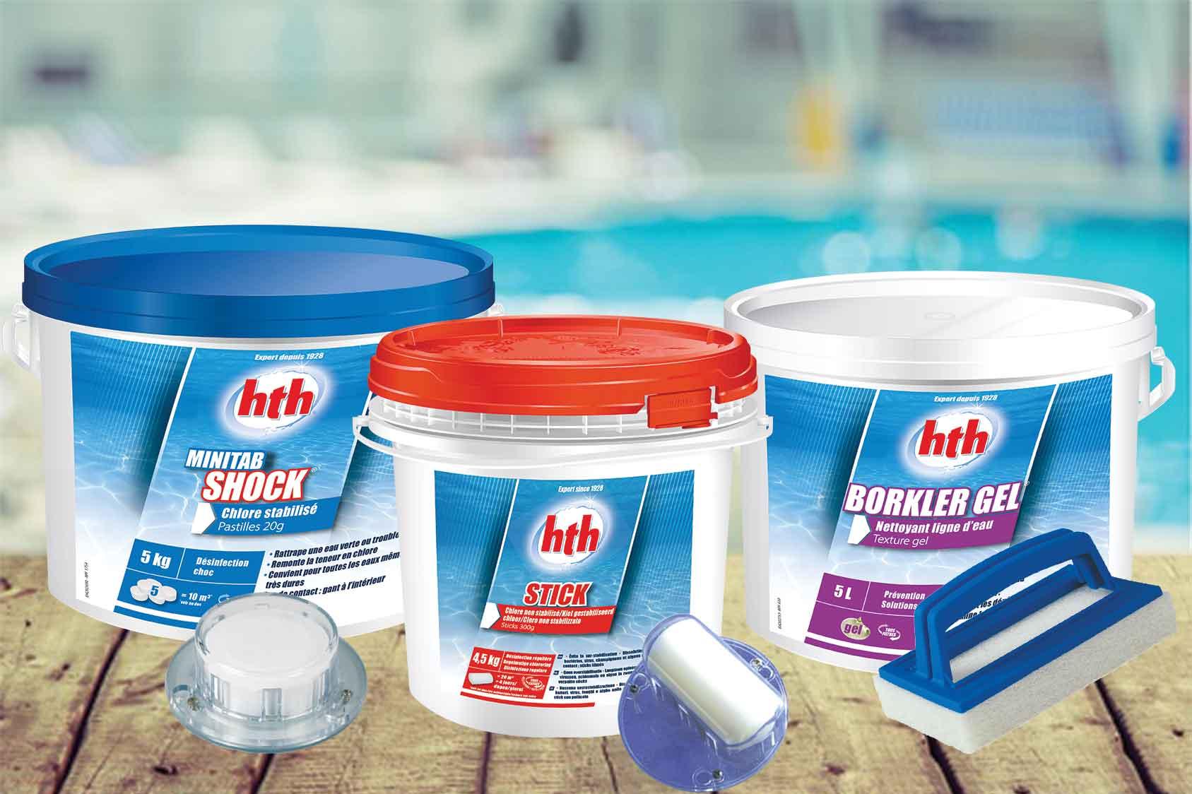 Traitement de l'eau de piscine (préventif, curatif ou entretien)