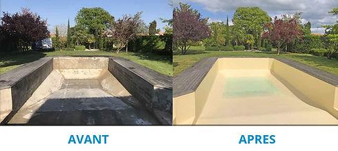 Rénovation piscine particulier : pose de membrane armée ... à quoi ressemble la membrane armée ? L'avantage de la membrane armée, c'est qu'elle ne nécessite pas de prises de côtes précises puisqu'elle s'adapte à toutes les formes de bassins.
