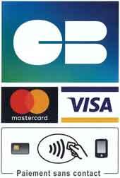 Paiement carte bancaire (mastercard, visa et sans contact)