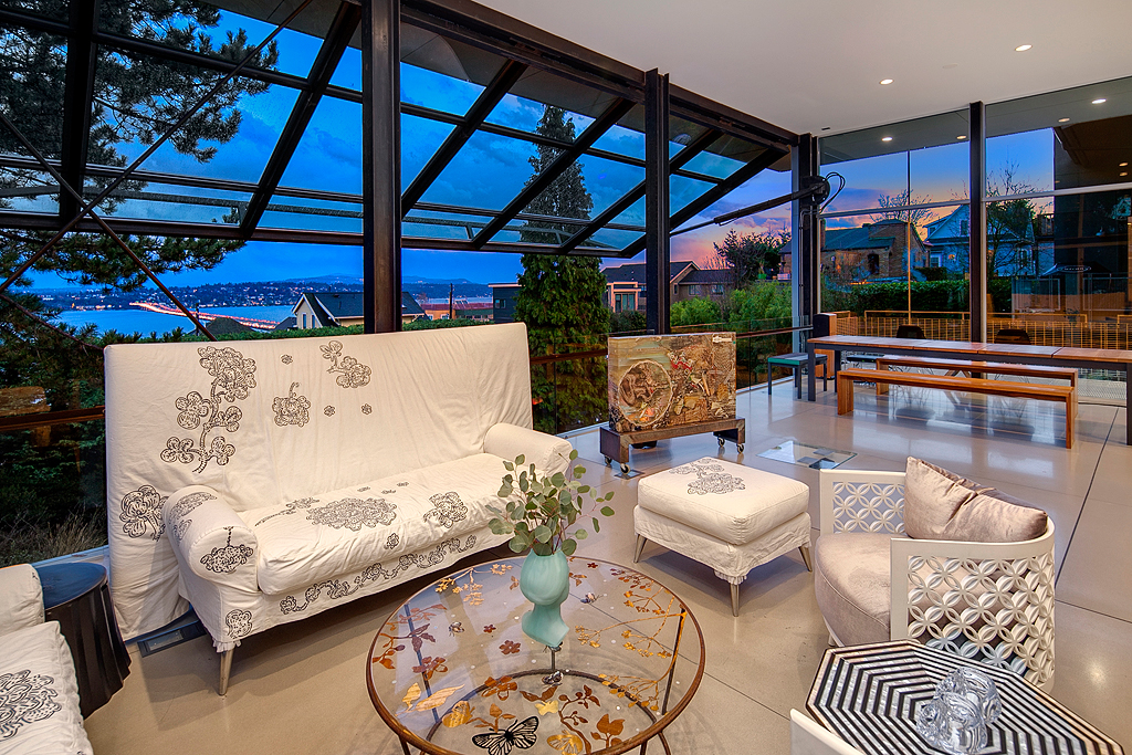 Living room with view.