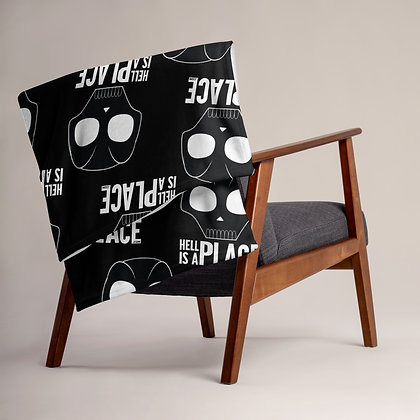 Hell Is A Place Logo Throw Blanket