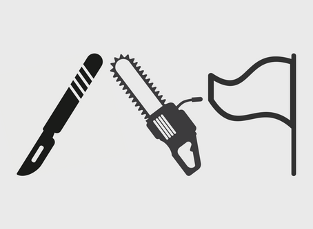 The Scalpel, The Chainsaw And The White Flag