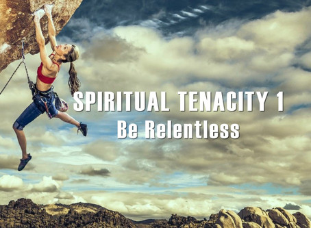 Spiritual Tenacity 1 - Be Relentless