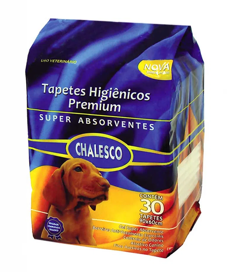 Tapete Higiênico Chalesco Premium para Cães com 30 unidades