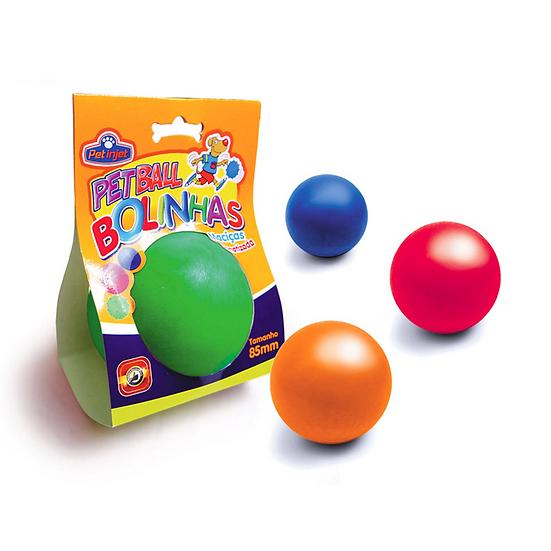 Bola Maciça Para Pets - Petball Lisa/Patinhas/Cravinhos 50mm/55mm/75mm