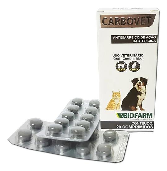 Carbovet Antitóxico Carvão Antibiótico Cães Gatos