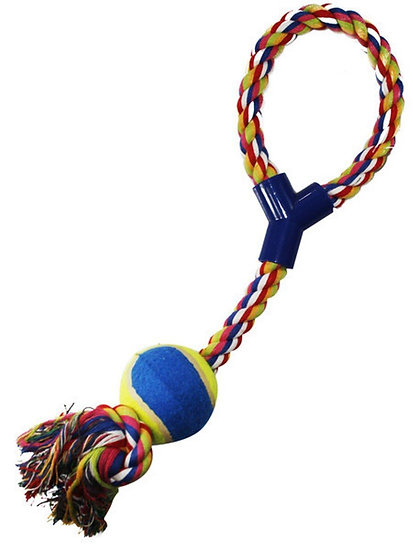 Brinquedo Mordedor Pet Corda com Bola
