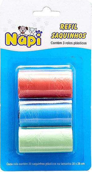 Refil Cata Caca Saquinhos plásticos - Napi