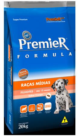 Ração Premier Pet Fórmula Frango e Arroz para Cães Filhotes de Raças Médias