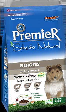 Ração Premier Seleção Natural para Cães Filhotes Até 12 Meses