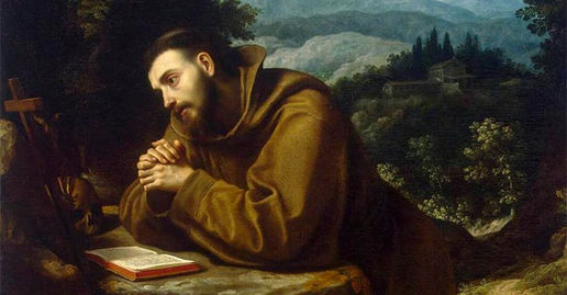 St. Francis of Assissi meditating