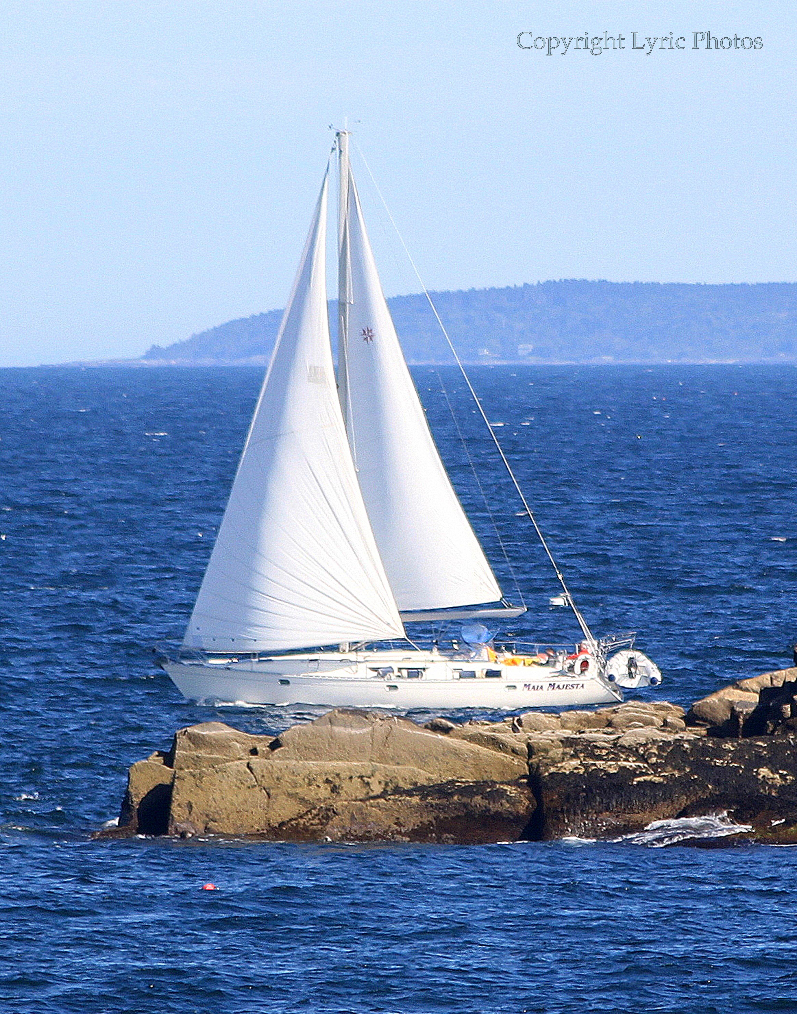 sail boat photograph maine sail boat