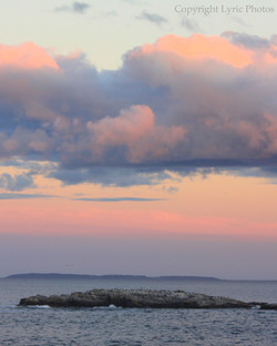 ocean sunset maine coast photo