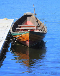 Dory photograph photo wooden boat