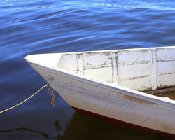 photo picture wooden boat dory maine