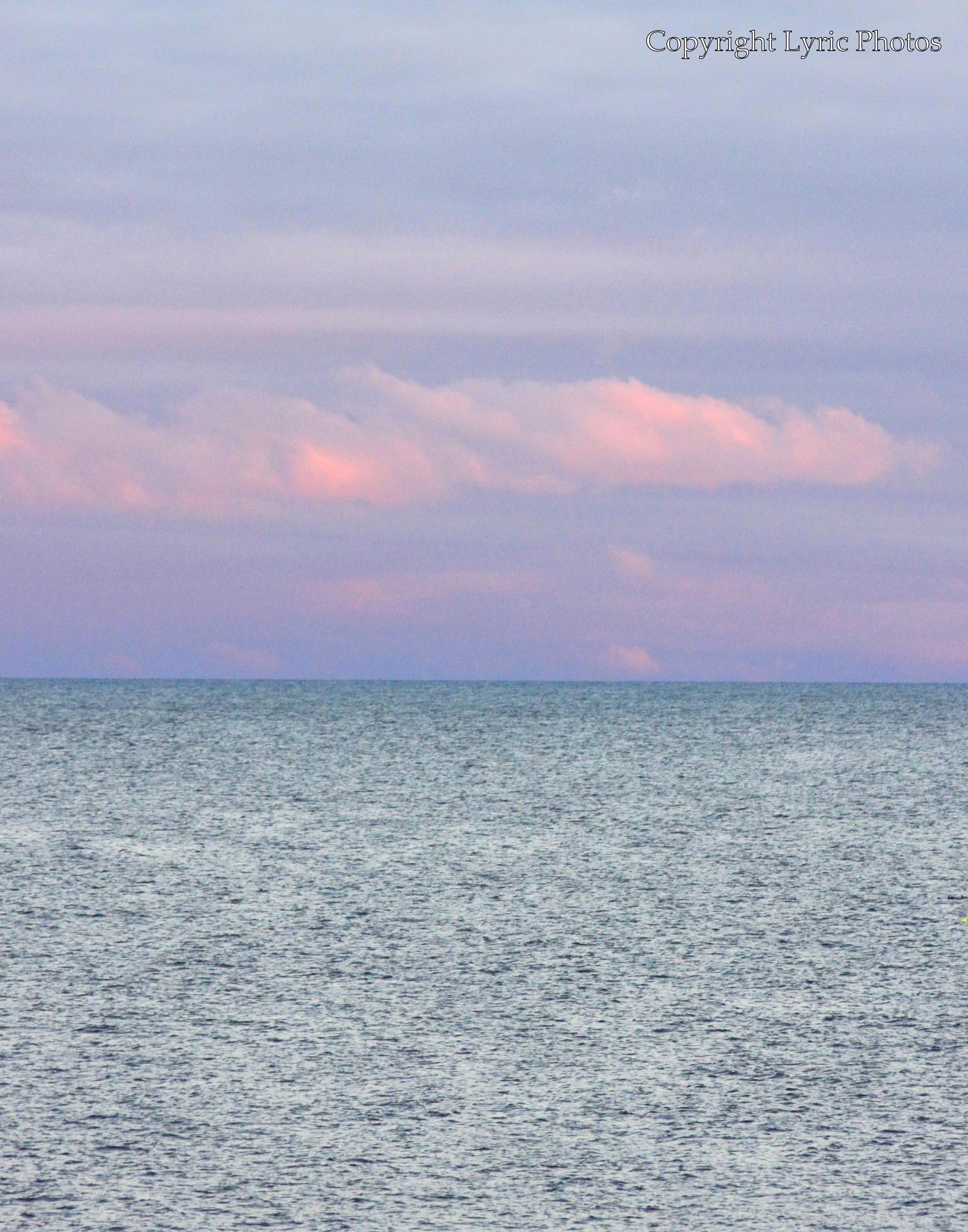 Ocean sunset photograph new england