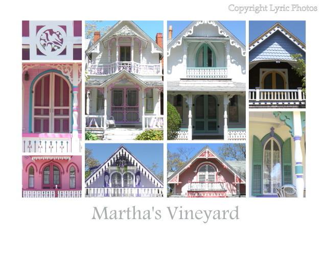 Martha's Vineyard Poster Cottages