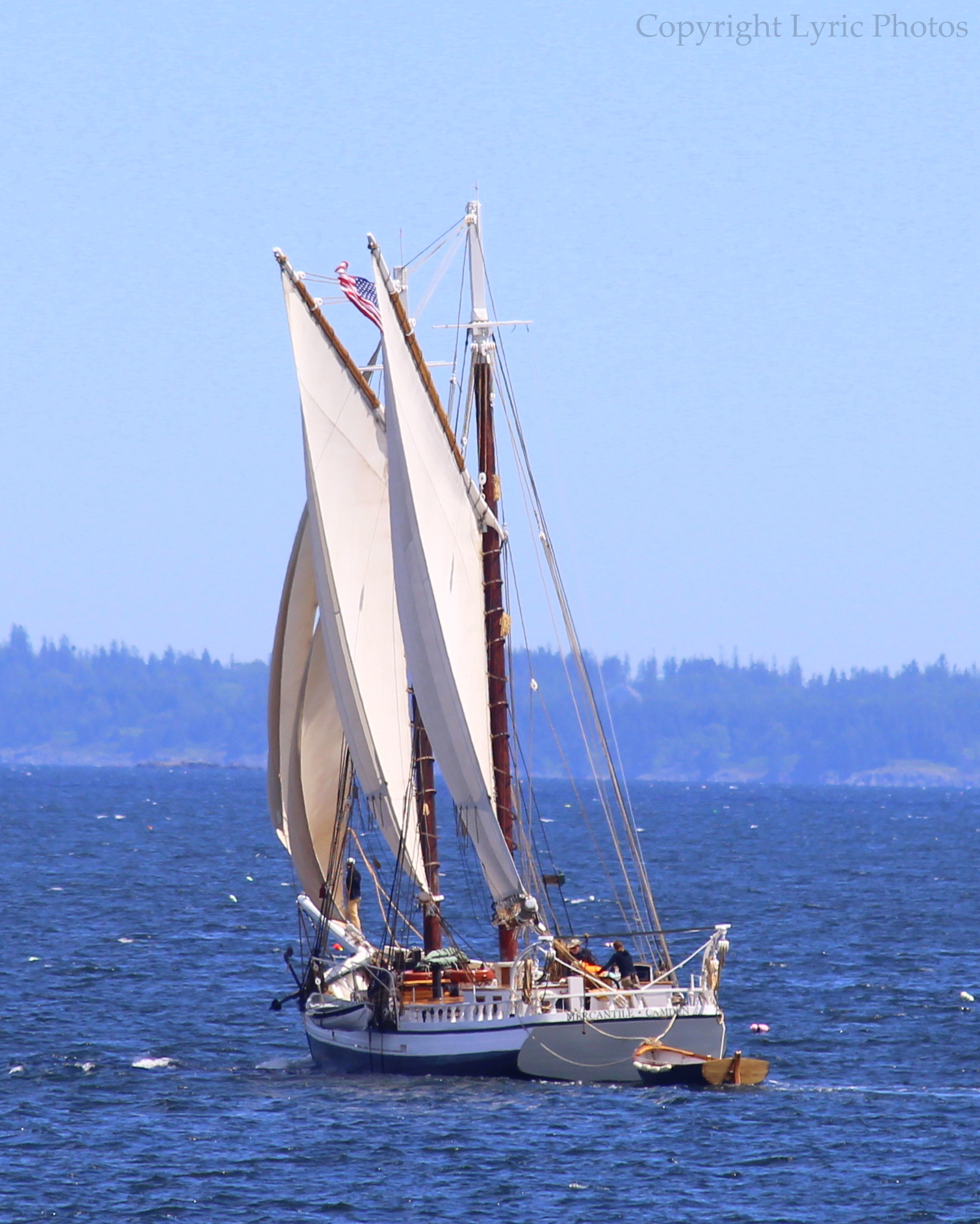 maine schooner sailboat photo