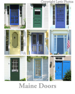 Maine Doors Poster New England
