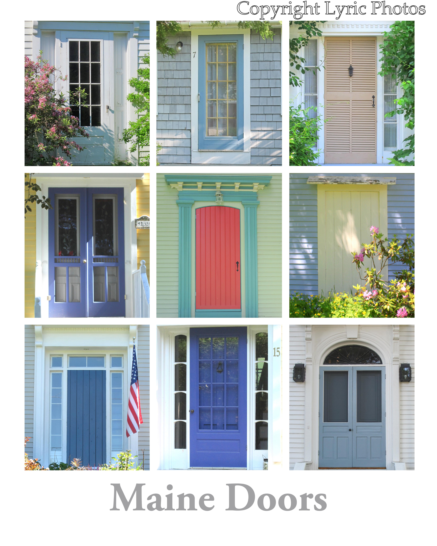 Maine Doors Poster new england