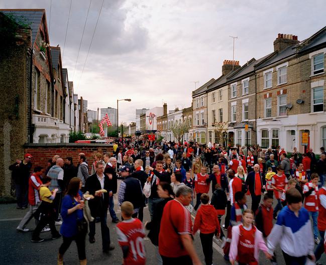Gillespie Road Highbury Arsenal FC Fans Football