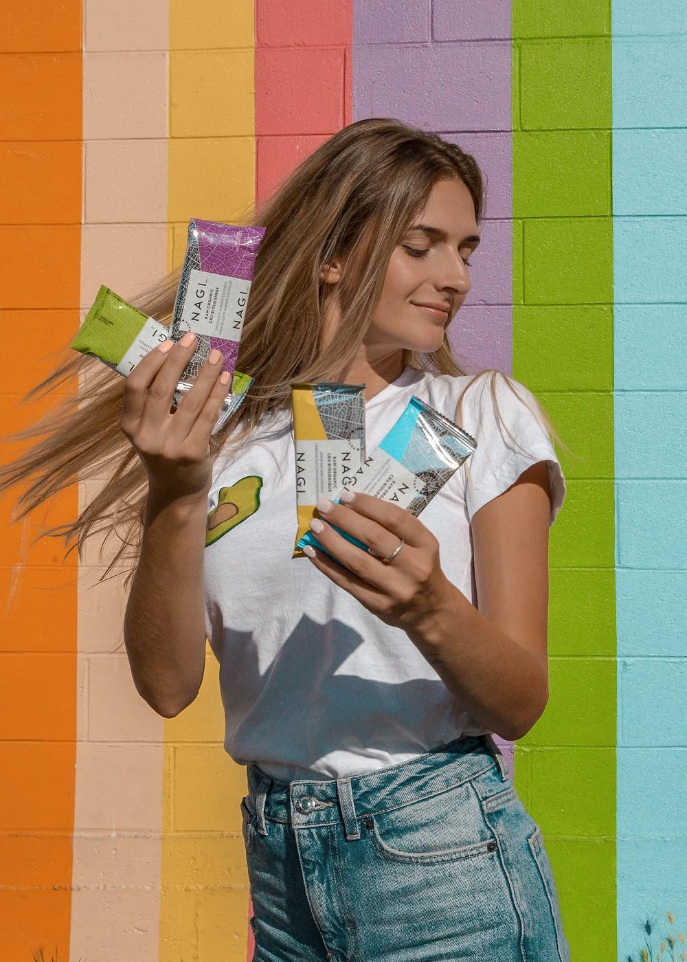 Nagi organix raw energy bars breakfast snack healthy living content creator