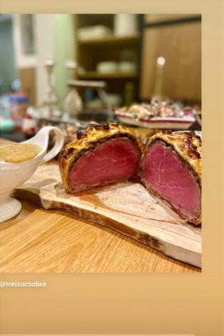 Recette de Noël Bœuf en croûte et morilles pour 4 personnes