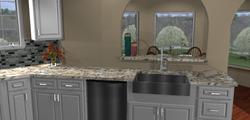 Bunting Kitchen Sink View