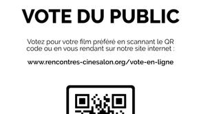 Cette année, le vote du public c'est en ligne !