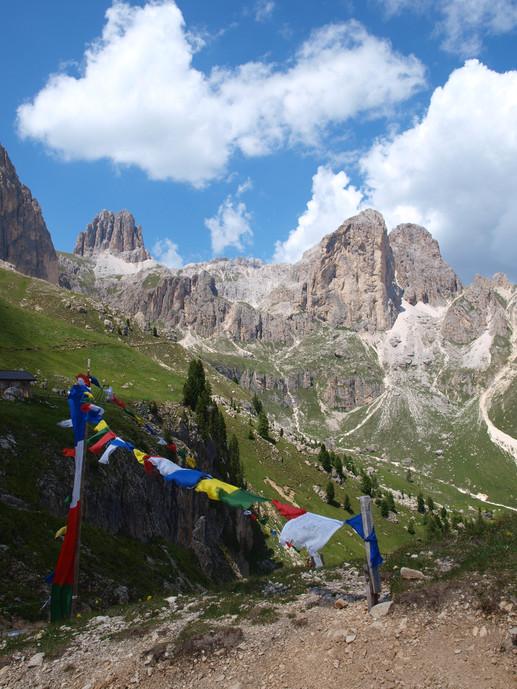 von der Hütte Roda di Vaèl aus gesehen seen