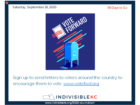 Sign up to send letters to voters around the country to encourage them to vote. www.votefwd.org